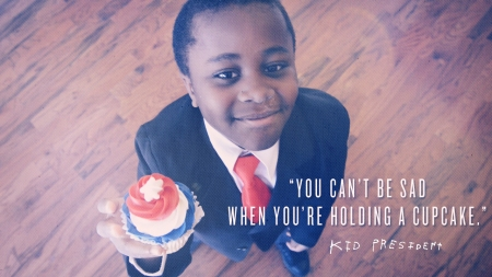 kid p - you can't be sad with a cupcake