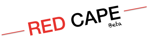 red cape logo tilted